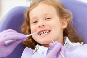Young Girl at Dentist